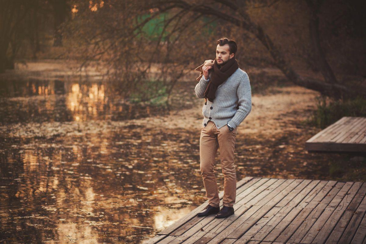 sweter meski na jesien